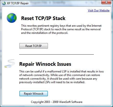 XP TCPIP Repair
